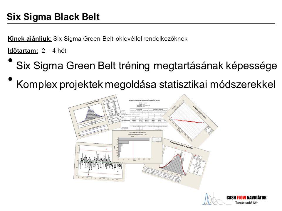 Six Sigma Green Belt tréning megtartásának képessége