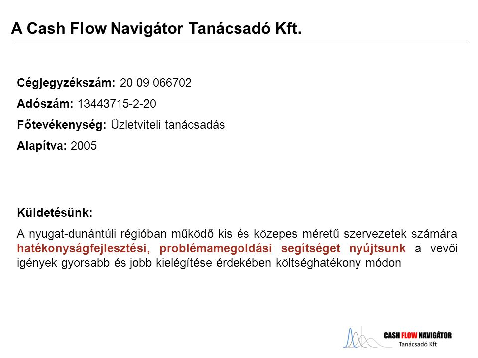 A Cash Flow Navigátor Tanácsadó Kft.
