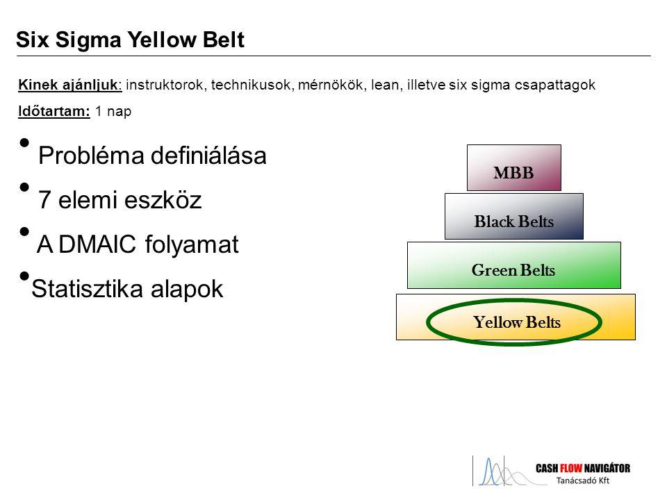Probléma definiálása 7 elemi eszköz A DMAIC folyamat