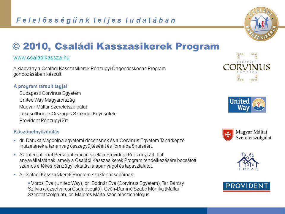 © 2010, Családi Kasszasikerek Program