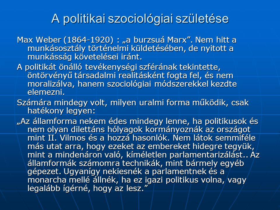 A politikai szociológiai születése