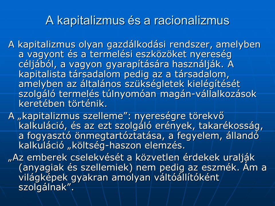A kapitalizmus és a racionalizmus