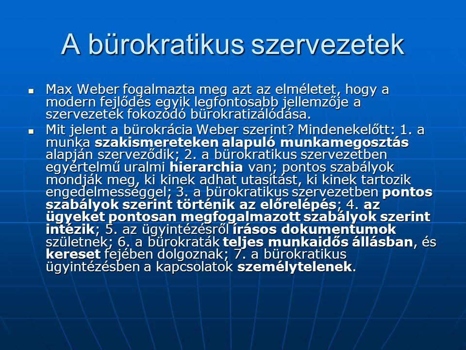 A bürokratikus szervezetek