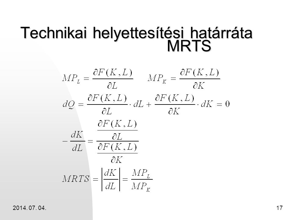 Technikai helyettesítési határráta MRTS