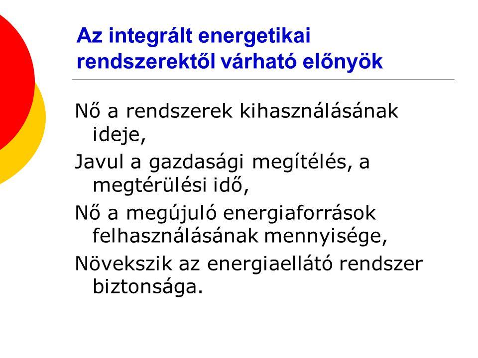 Az integrált energetikai rendszerektől várható előnyök