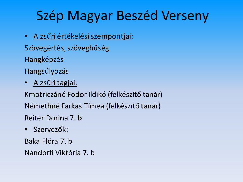 Szép Magyar Beszéd Verseny