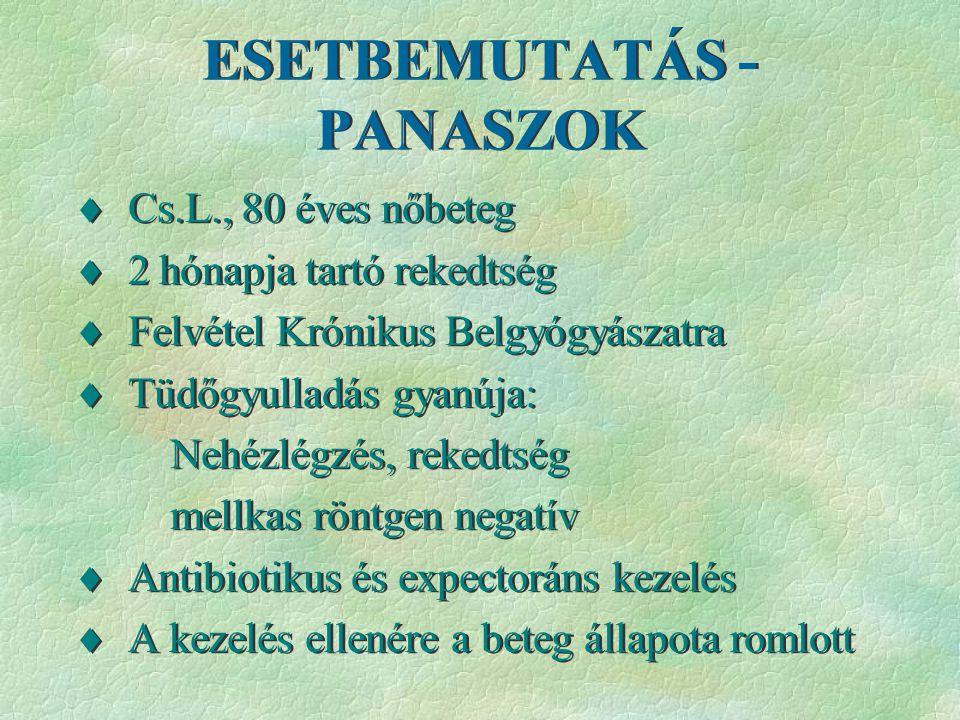 ESETBEMUTATÁS - PANASZOK