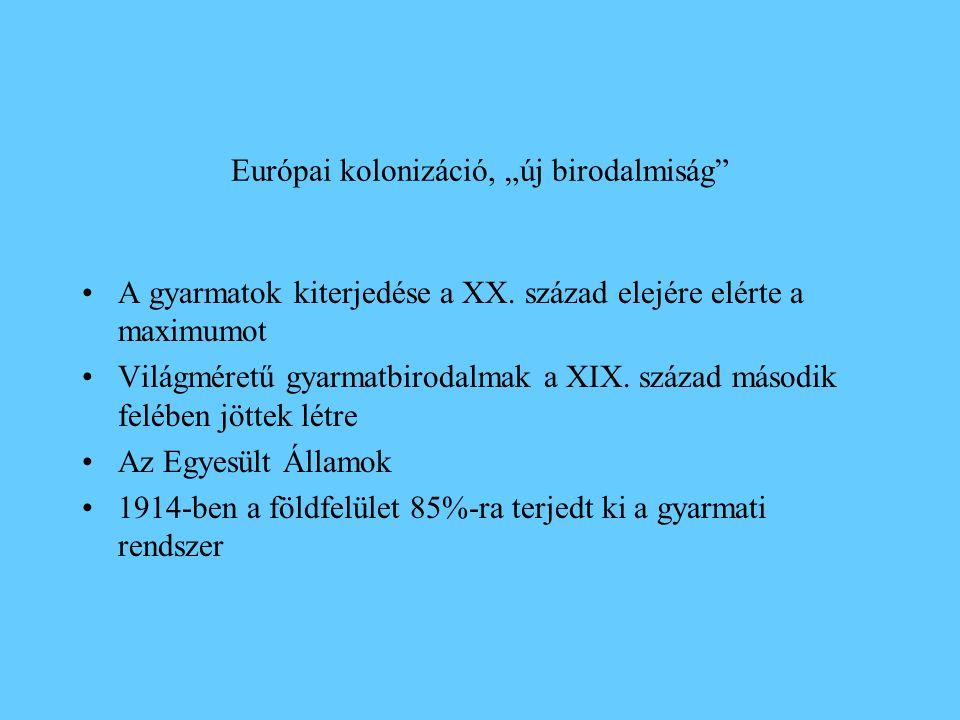 """Európai kolonizáció, """"új birodalmiság"""