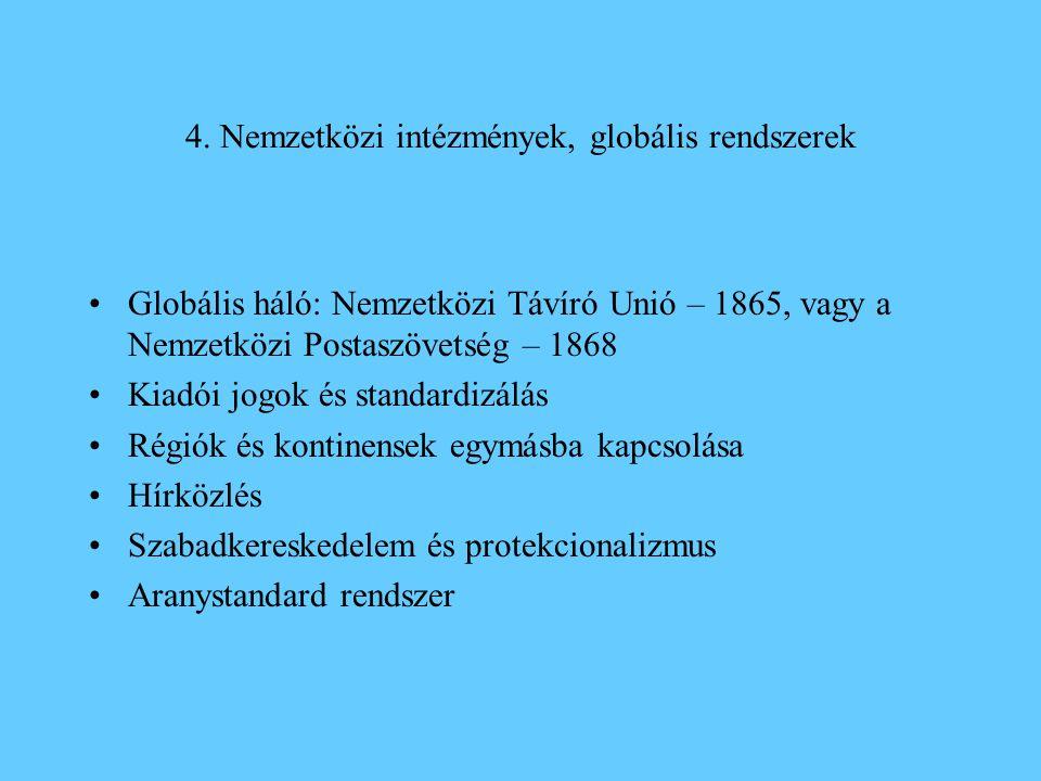 4. Nemzetközi intézmények, globális rendszerek
