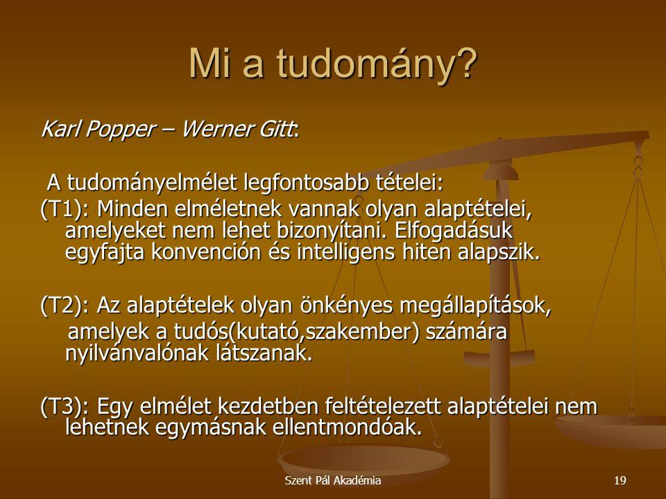 Mi a tudomány Karl Popper – Werner Gitt: