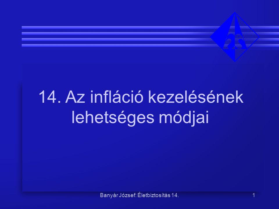 14. Az infláció kezelésének lehetséges módjai