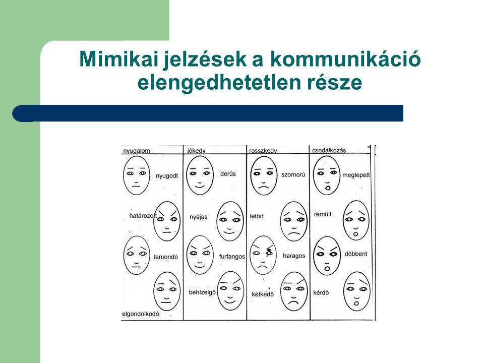 Mimikai jelzések a kommunikáció elengedhetetlen része