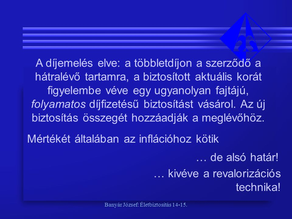 Banyár József: Életbiztosítás 14-15.