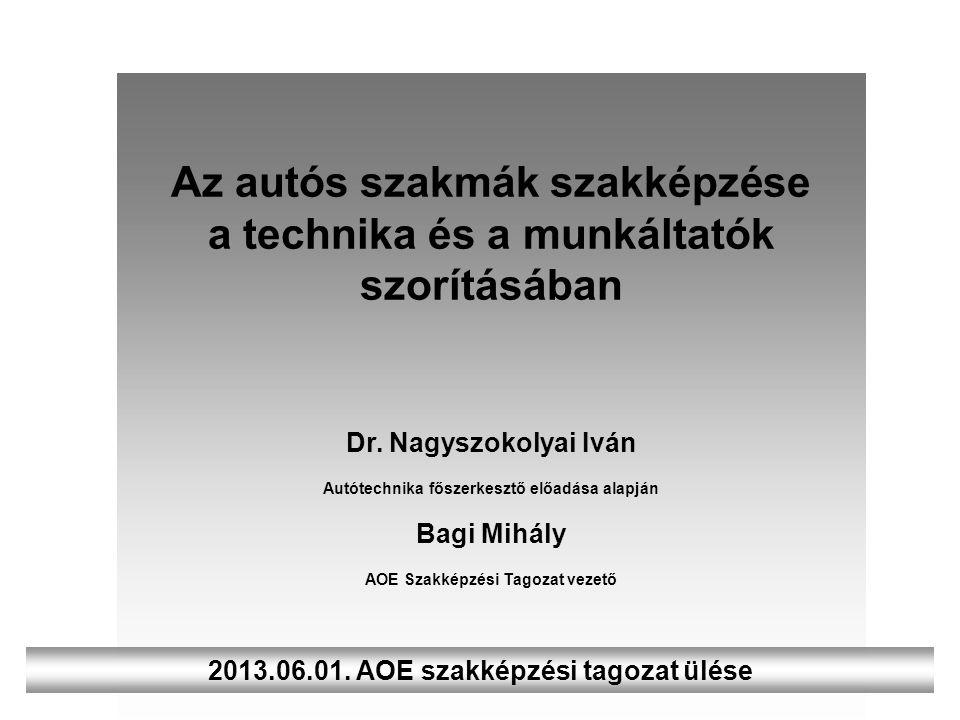 Az autós szakmák szakképzése a technika és a munkáltatók szorításában