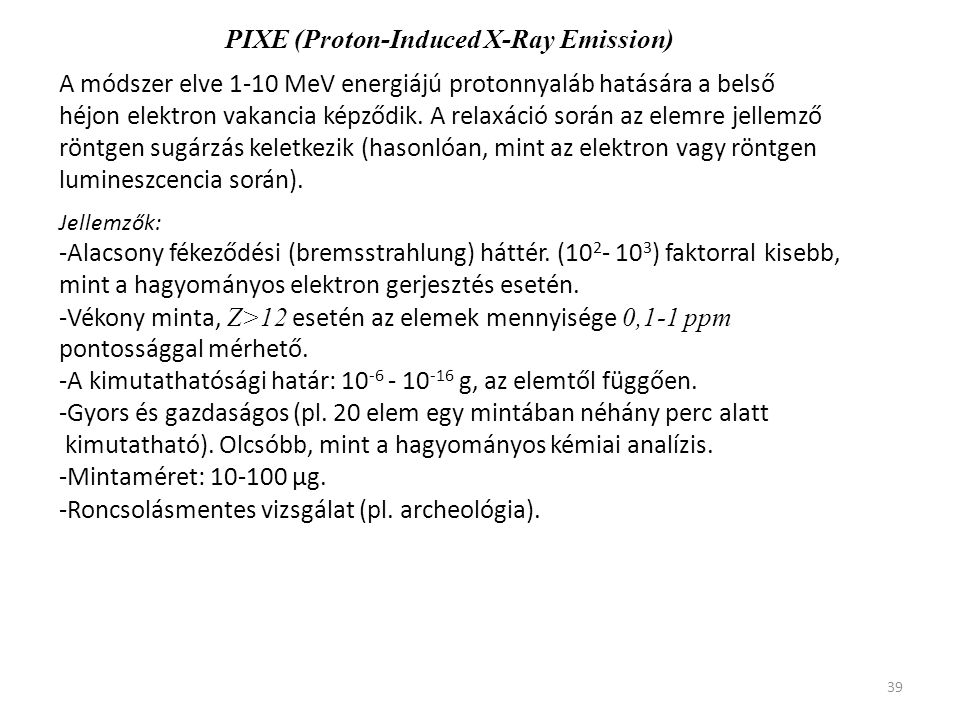 PIXE (Proton-Induced X-Ray Emission)