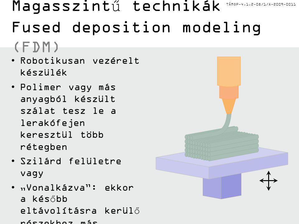 Magasszintű technikák Fused deposition modeling (FDM)