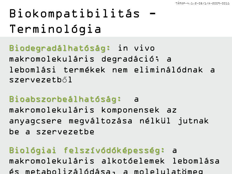 Biokompatibilitás - Terminológia