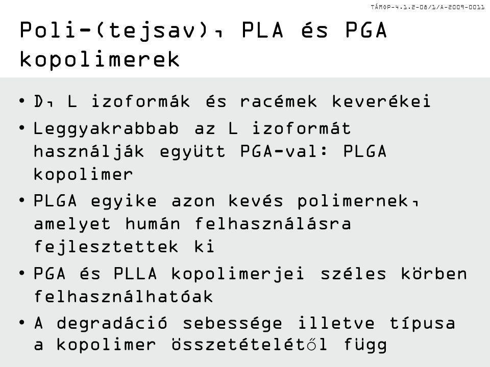 Poli-(tejsav), PLA és PGA kopolimerek