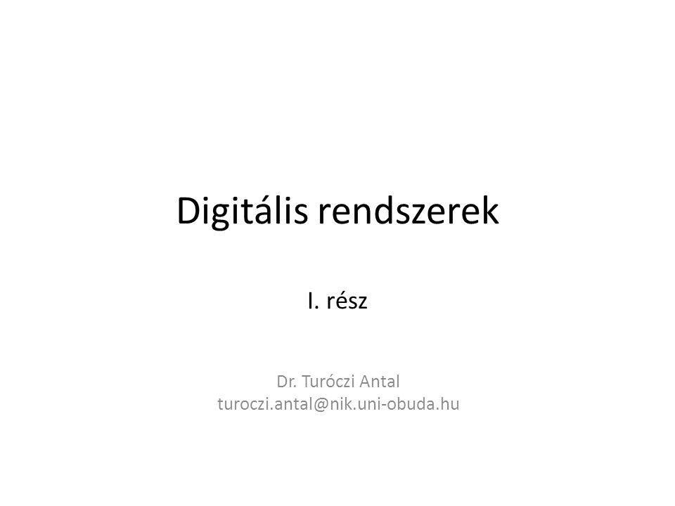 Digitális rendszerek I. rész