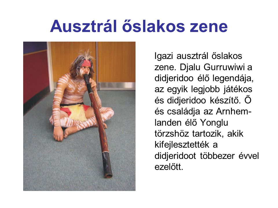 Ausztrál őslakos zene