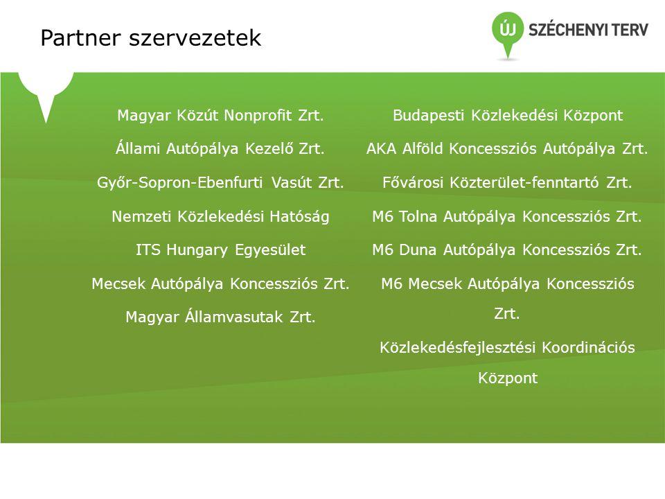 Partner szervezetek Magyar Közút Nonprofit Zrt.