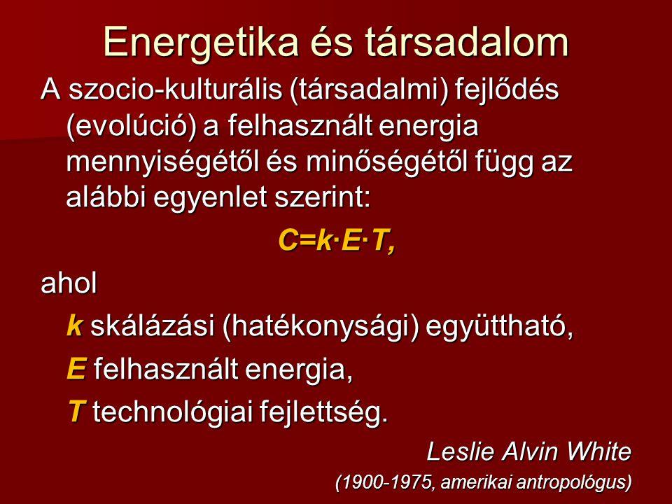 Energetika és társadalom