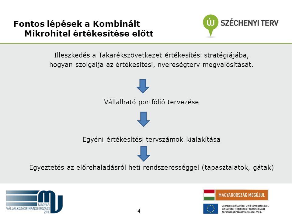 Fontos lépések a Kombinált Mikrohitel értékesítése előtt