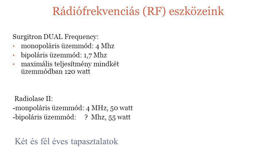 Rádiófrekvenciás (RF) eszközeink