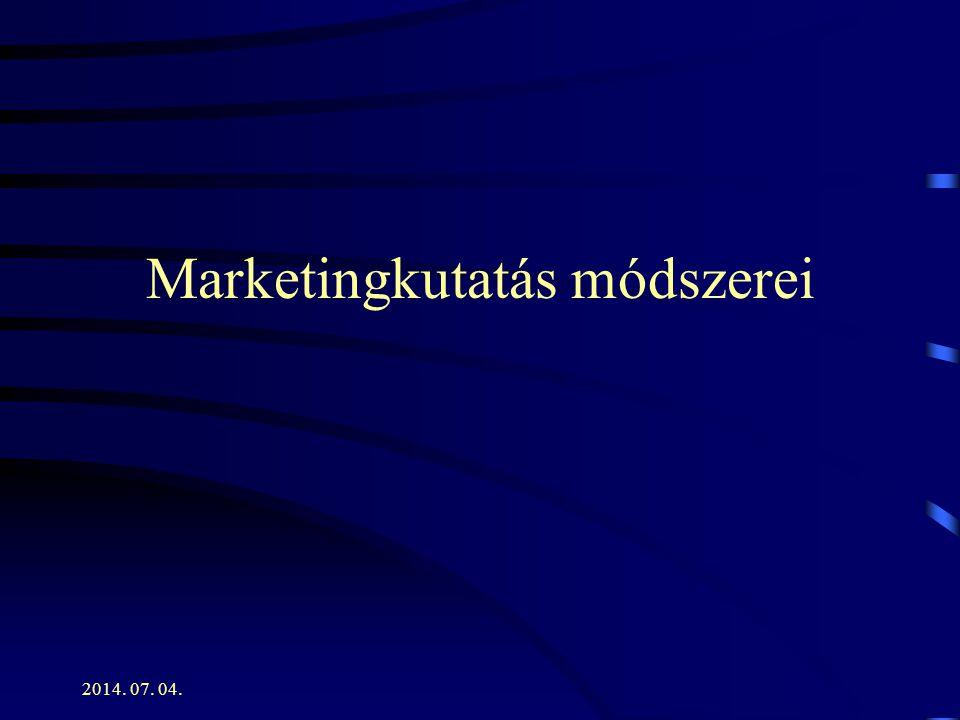 Marketingkutatás módszerei