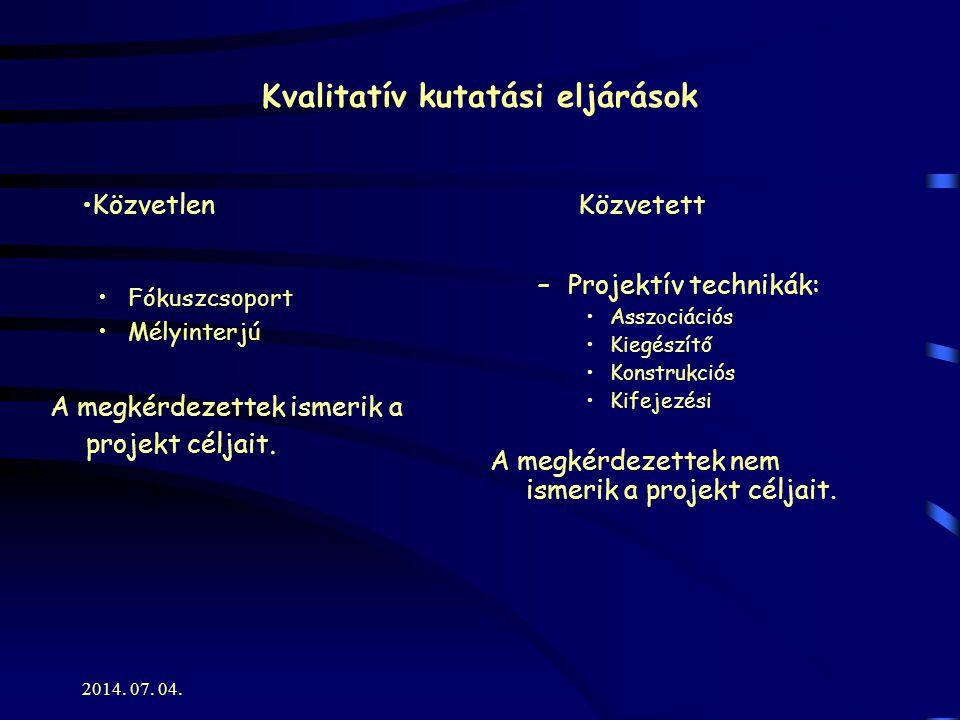 Kvalitatív kutatási eljárások