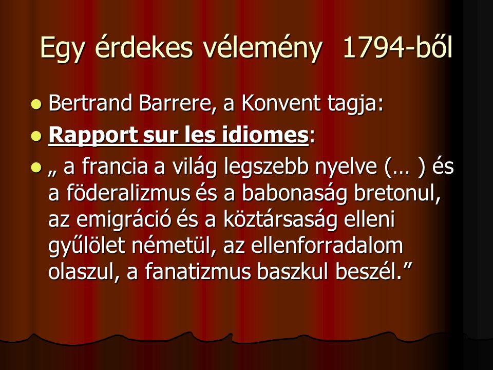 Egy érdekes vélemény 1794-ből