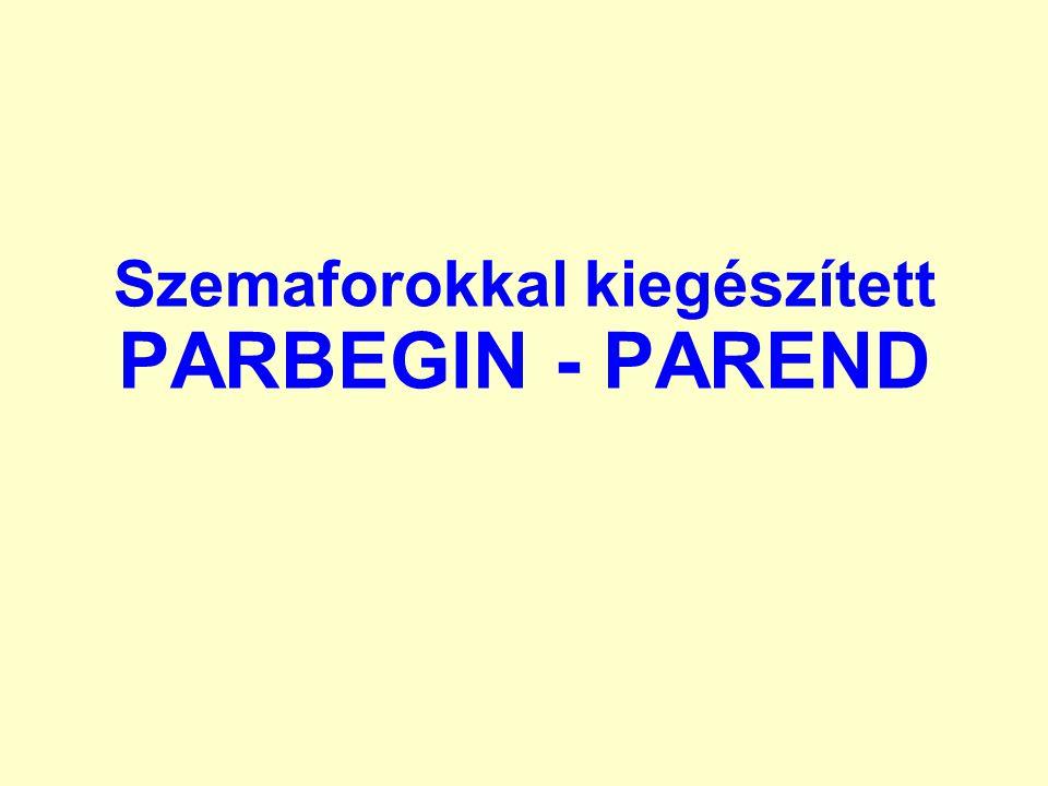 Szemaforokkal kiegészített PARBEGIN - PAREND