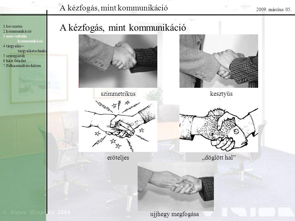 A kézfogás, mint kommunikáció