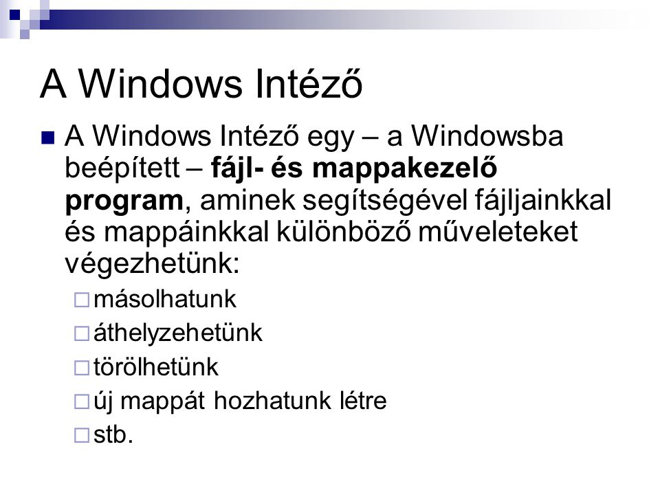 A Windows Intéző