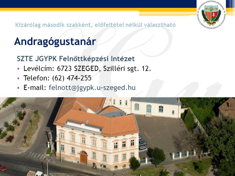 Andragógustanár SZTE JGYPK Felnőttképzési Intézet
