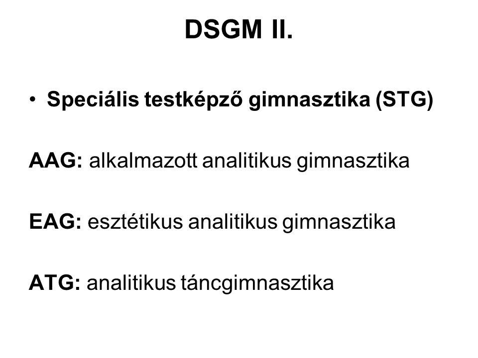 DSGM II. Speciális testképző gimnasztika (STG)