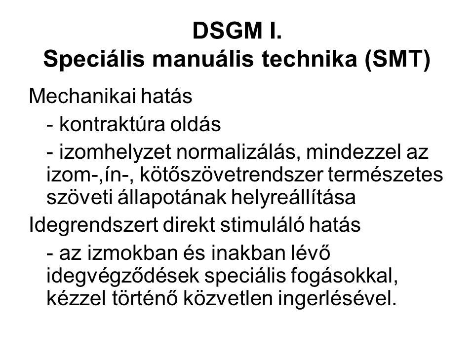 DSGM I. Speciális manuális technika (SMT)