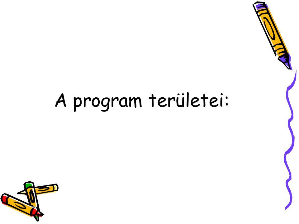 A program területei: