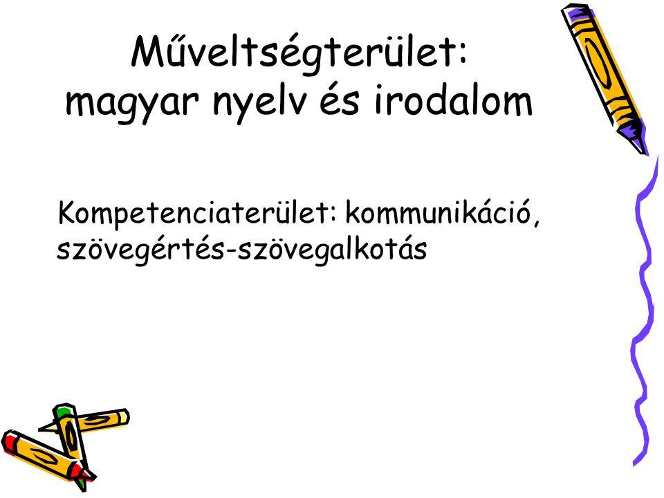 Műveltségterület: magyar nyelv és irodalom