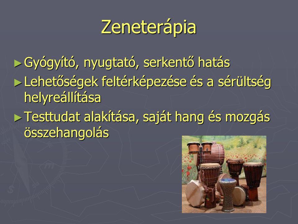 Zeneterápia Gyógyító, nyugtató, serkentő hatás