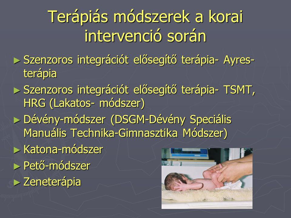 Terápiás módszerek a korai intervenció során