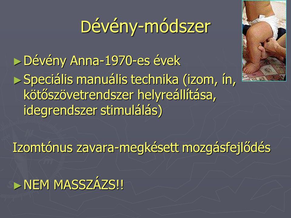 Dévény-módszer Dévény Anna-1970-es évek