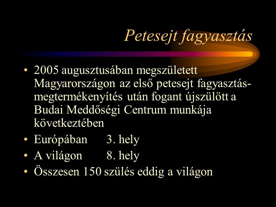 Petesejt fagyasztás