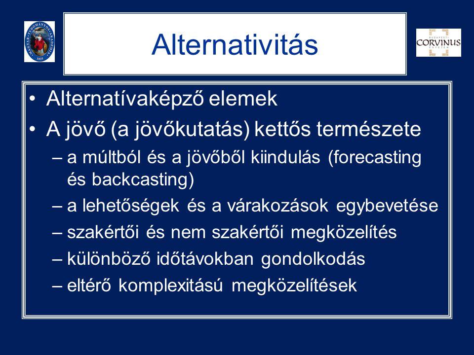 Alternativitás Alternatívaképző elemek