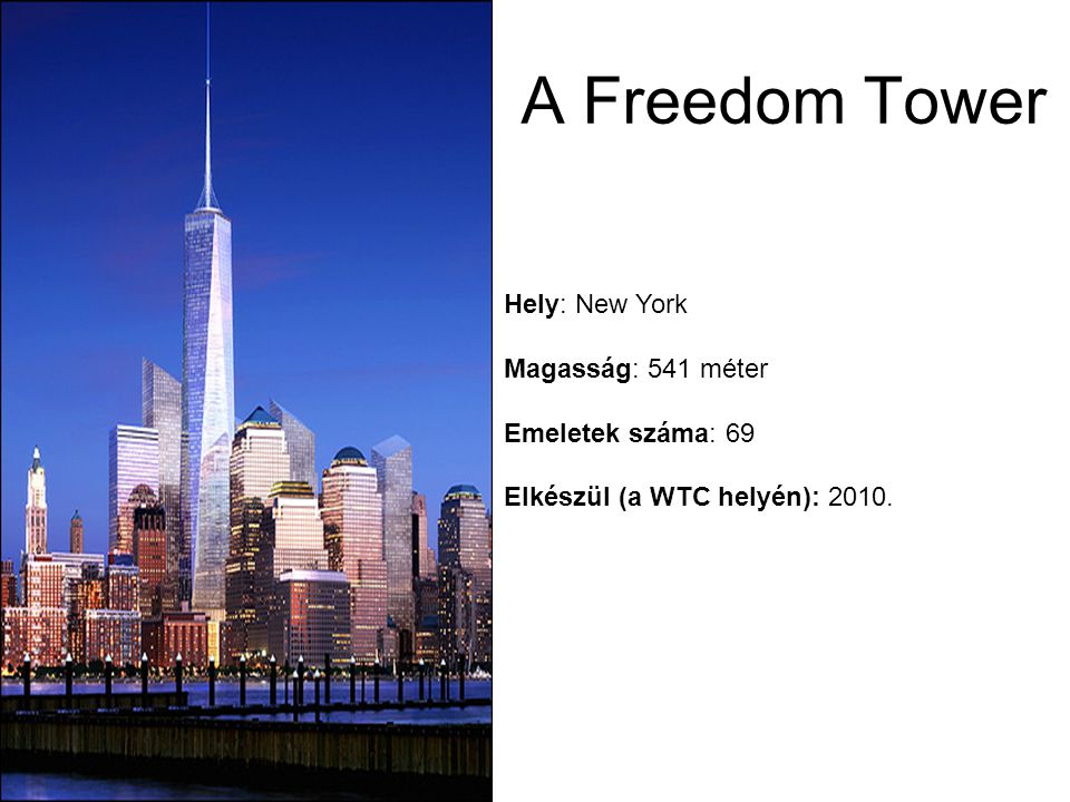 A Freedom Tower Hely: New York