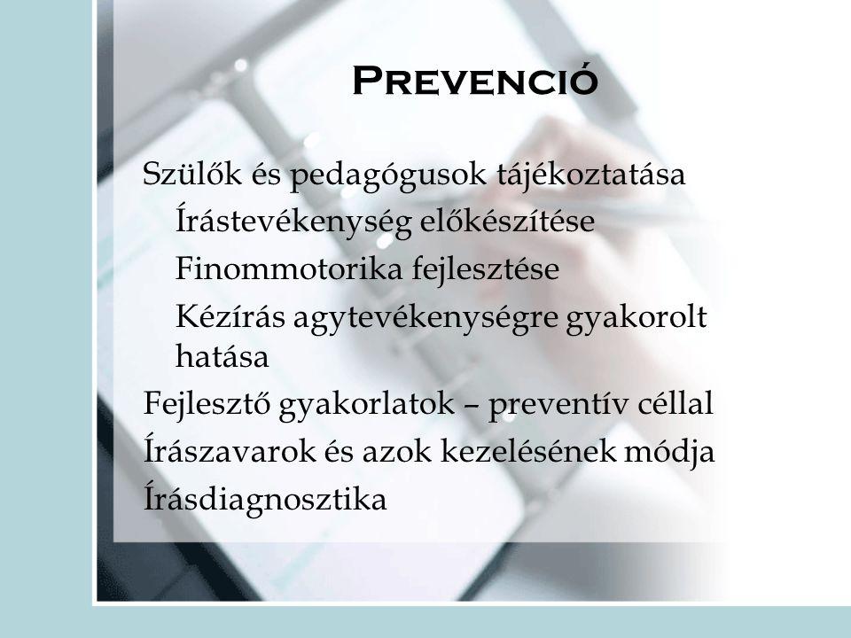Prevenció Szülők és pedagógusok tájékoztatása