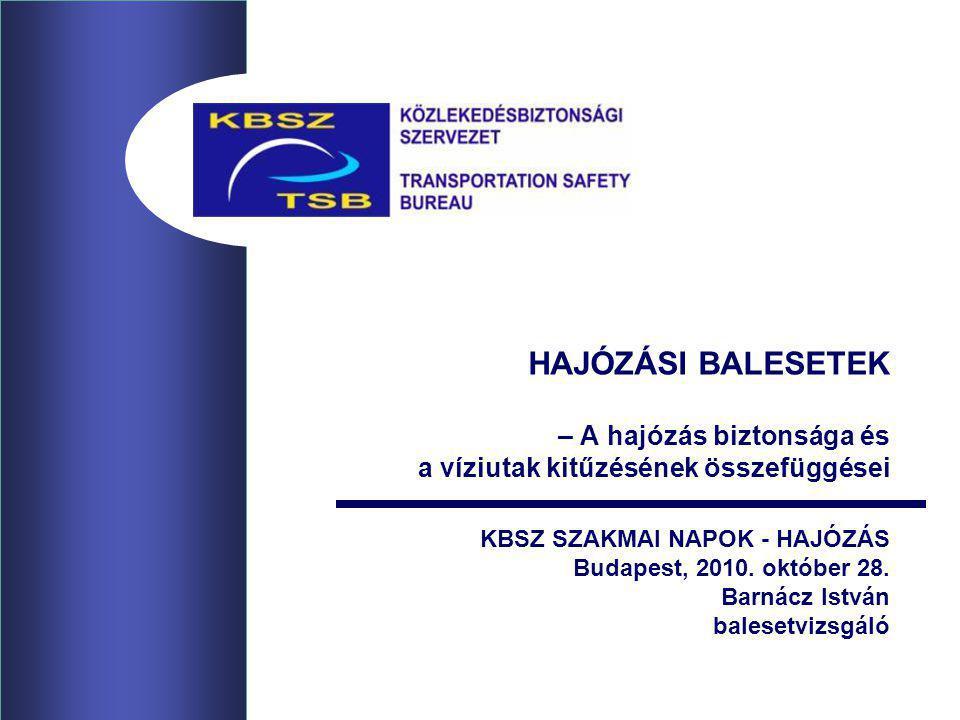 hajózási balesetek – A hajózás biztonsága és a víziutak kitűzésének összefüggései