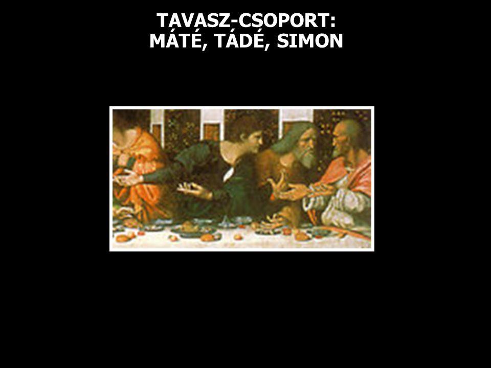 TAVASZ-CSOPORT: MÁTÉ, TÁDÉ, SIMON
