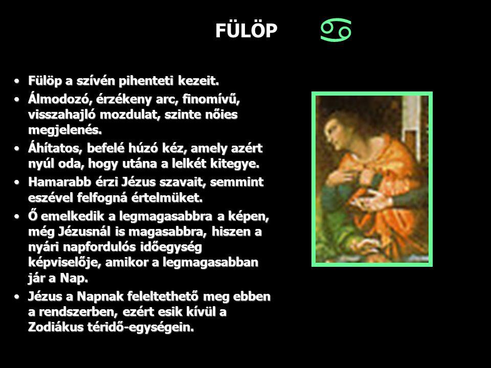 FÜLÖP Fülöp a szívén pihenteti kezeit.