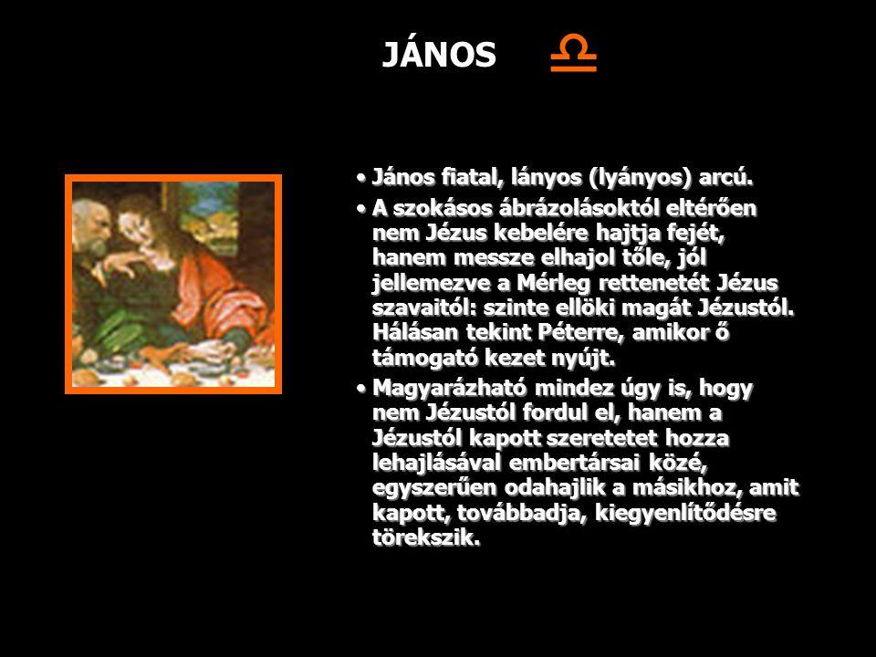  JÁNOS János fiatal, lányos (lyányos) arcú.